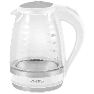 Чайник электрический стекло с подсветкой 1.5 л ENERGY E-284 2200 Вт, Белый