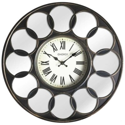 Часы настенные большого диаметра 41 см ENERGY ЕС-122 41 см без секундной стрелки с зеркальными вставками