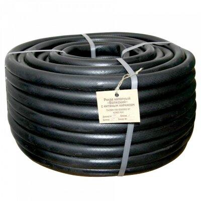 Шланг поливочный резиновый кордовый 50 м 3/4 дюйма Волжский, черный