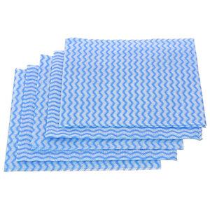 Салфетки хозяйственные с перфорацией 30х30 см, синяя волна, 5 шт