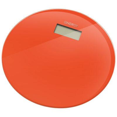 Весы напольные круглые электронные до 180 кг ENERGY EN-420 RIO-O стеклянные, Оранжевые