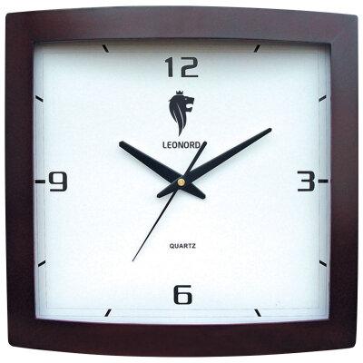 Часы настенные квадратные кварцевые 32х32 см LEONORD LC-66 бесшумные