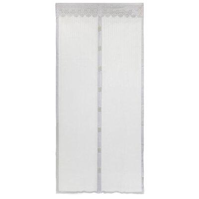 """Сетка от комаров на дверь 100х210 см на 9 магнитах Рыжий кот KM-W """"Капутомоскито"""" , цвет белый"""