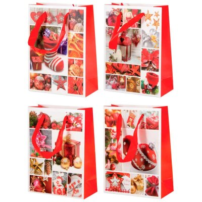"""Пакет бумажный с новогодней символикой """"Зимняя сказка-3"""" 17.5х8x23 см"""