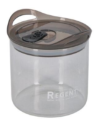 Стеклянная банка 0.9 л Regent 93-DE-CA-01-900 с крышкой для хранения сыпучих продуктов
