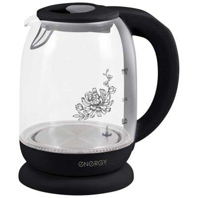 ENERGY E-286 Чайник электрический с регулировкой температуры 1.7 л  2200 Вт стекло , Черный