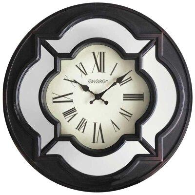 Часы настенные большого диаметра 40 см ENERGY ЕС-123 без секундных стрелок зеркальные вставки