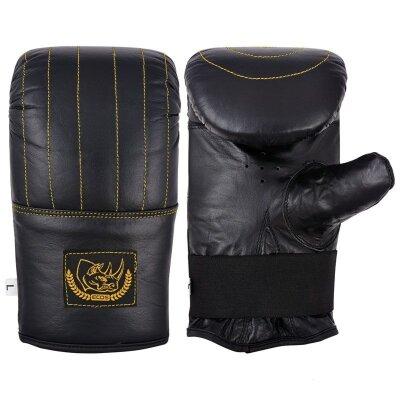 Перчатки тренировочные для бокса BG-861XL кожа размер XL цвет черный
