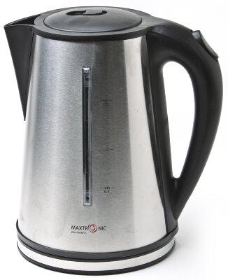 Чайник электрический в стальном корпусе 1.7 л MAXTRONIC MAX-2523 , 1850-2200 Вт, диск