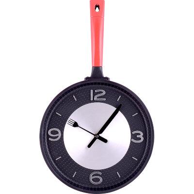 """Часы настенные """"Сковорода"""" MAXTRONIC MAX-9789B без секундной стрелки круглые"""