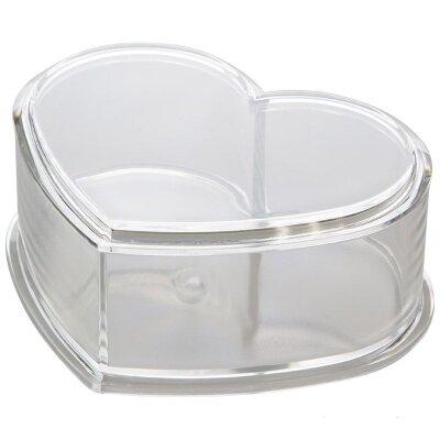 Органайзер для бижутерии пластиковый Сердце 11.4x9.5x5 см