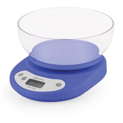 Весы настольные электронные с чашей до 5 кг HomeStar HS-3001 кухонные, цвет: синий