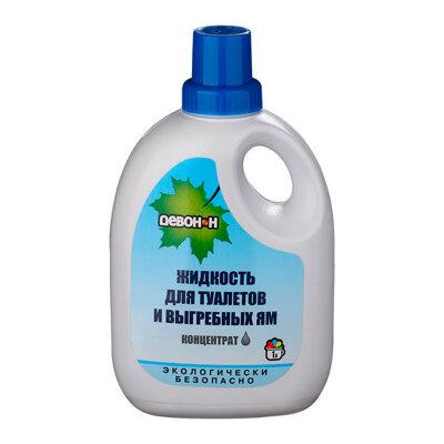 Девон-Н Жидкость для биотуалетов и выгребных ям 1 литр, удаление запахов и загрязнений
