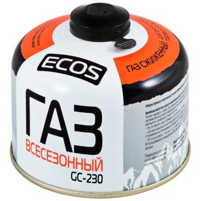 ECOS GC-230 Баллон резьбовой с газом для портативных приборов EPI-GAS, 230 г, Корея