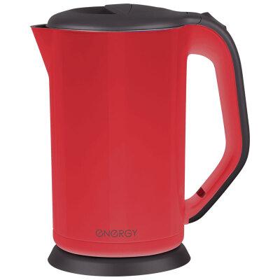Чайник электрический с двойными стенками 1.7 л ENERGY E-225R стальной 1800 Вт, цвет красный