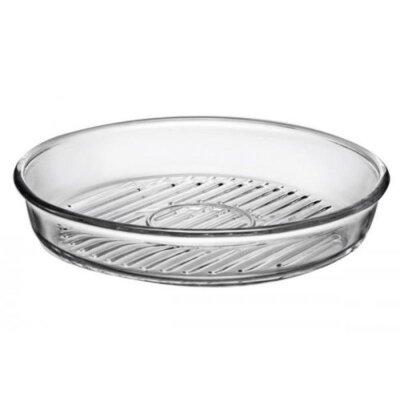 Стеклянная круглая форма для запекания BORCAM 59544 32х4.5 см