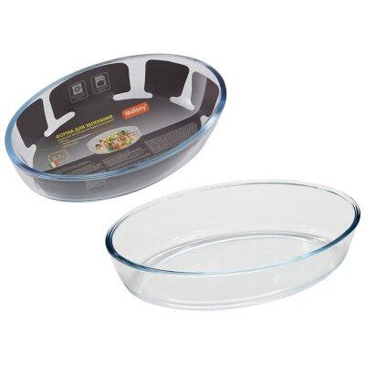 Форма для запекания из стекла овальная 0.7 л Cristallino Mallony без ручек размер 20х13х4.7 см