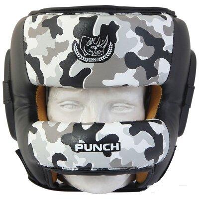 Шлем для бокса с защитой носа PS-826L-M Camo натуральная кожа, Размер: XL, Камуфляж