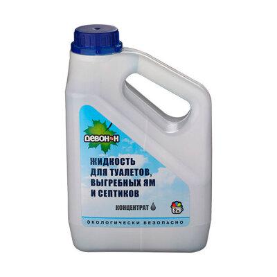 Девон-Н Жидкость дезинфицирующая 2 литра для нижнего бака биотуалетов, выгребных ям, септиков, и удаления запахов