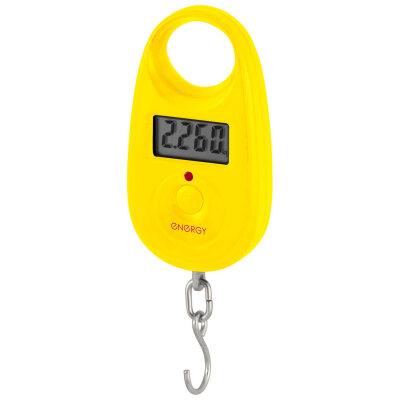 Безмен ручной электронный цифровой до 25 кг Energy BEZ-150-YL точность до 5 грамм Цвет: желтый