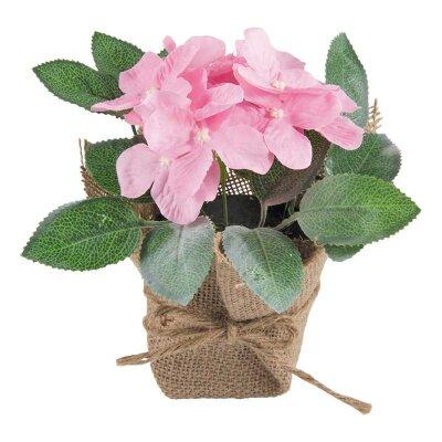 Искусственный цветок в горшке для декора Цикламен 20 см