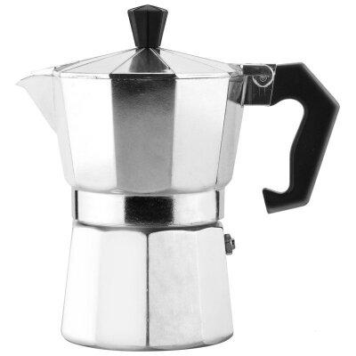Кофеварка гейзерного типа Mallony Grande 120 мл на 3 чашки, Серебрянная