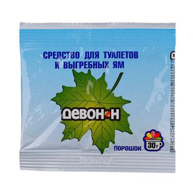 Девон-Н Порошок дезинфицирующий 30 грамм для биотуалетов, выгребных ям, удаления запахов и септиков