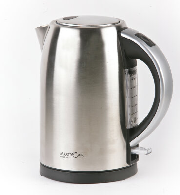Чайник электрический MAXTRONIC MAX-568 2200Вт, 1.7 л, диск, корпус нержавеющяя сталь