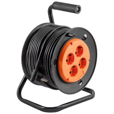 """Удлинитель электрический на катушке 30 метров 4 розетки ENGY  """"Энергия-Гранд"""" с заземлением (ПВС 3х1,5)"""