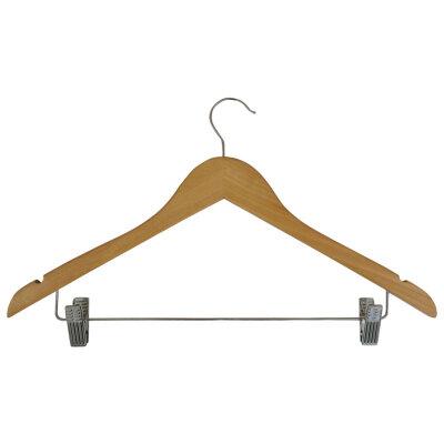 Вешалка плечики для верхней одежды с клипсами Рыжий КОТ W2-C деревянная