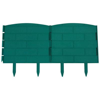 Декоративный забор для клумб бордюр КД-20/1 5 секций длина 1.2 м, высота 22 см