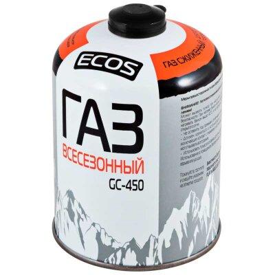ECOS GC-450 Баллон резьбовой с газом для портативных приборов  EPI-GAS, 450 г, Корея
