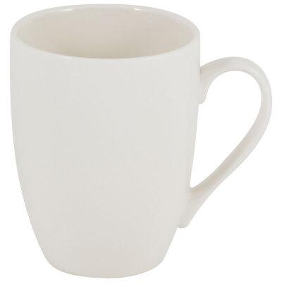 Кружка фарфоровая белая 330 мл для чая Mallony Piatto