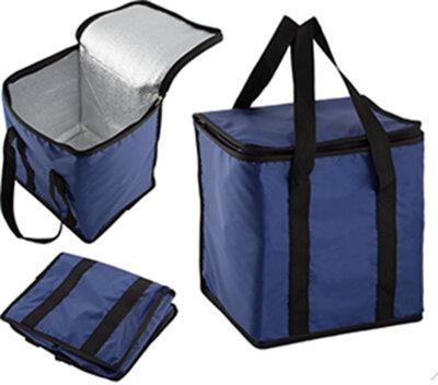 Термосумка 18 л ECOS арт. 007573 цвет синий. размер сумки: 29х22х27 см
