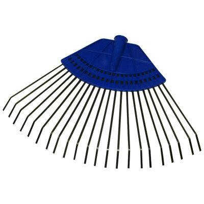 Грабли веерные пластинчатые для травы 22 зуба без черенка Заря с пластмассовым основанием