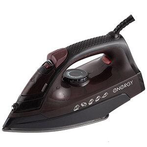 Утюг тефлоновый 1600 Вт ENERGY EN-340 черный, пар, паровой удар, вертикальный пар, спрей