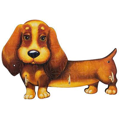 Вешалка для ключей Собака 026 на 3 крючка