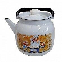 Чайник 3.5 л Кулинар С-2713П2/4 эмалированный на плиту