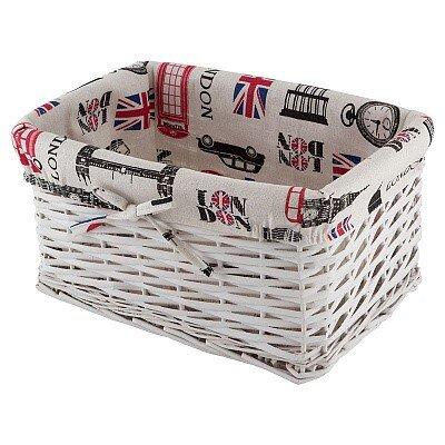 """Корзина для хранения """"Лондон"""" с текстильным вкладышем прямоугольная"""