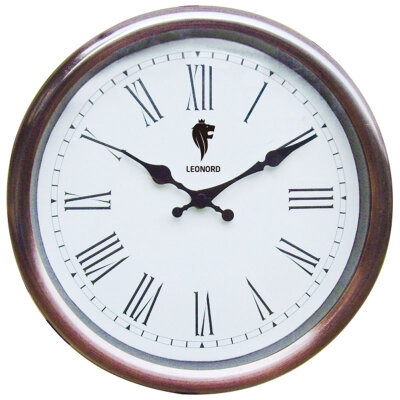Часы круглые настенные 28 см кварцевые LEONORD LC-70 с римскими цифрами плавный ход
