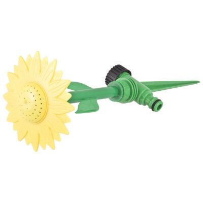 Разбрызгиватель для полива газона в форме цветка на пике HL2107Y желтый