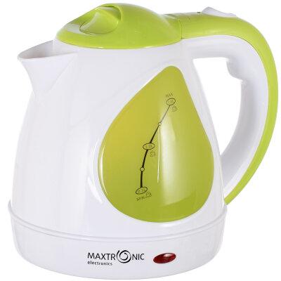 Чайник электрический пластиковый корпус 1.5 л MAXTRONIC MAX-803 зеленый , 1500 Вт, диск