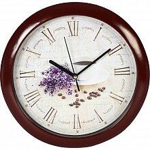 Часы круглые настенные 27 см MAX-8383-4 С цветами, кварцевый механизм