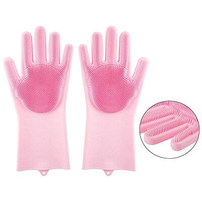 Перчатки хозяйственные силиконовые HM26209 Рыжий КОТ