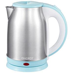 Чайник 1.8 л ENERGY E-202 дисковый стальной бело-голубой