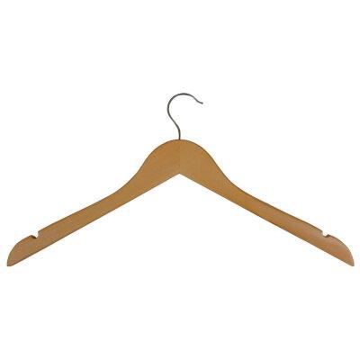 Вешалка плечики для одежды деревянная без перекладины W2 44х24 см