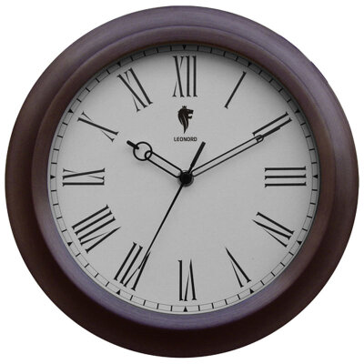 Часы круглые настенные 30 см LEONORD LC-71 с римскими цифрами, плавный ход