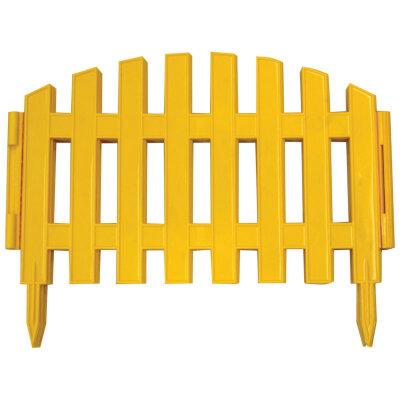Заборчик из штакетника для клумб декоративный 5 секций длина 2.2 м высота - 27 см КД-17/1