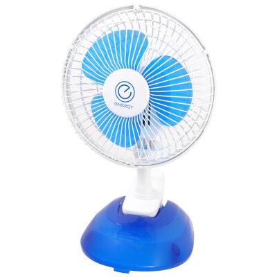 Вентилятор настольный на прищепке 15 см Energy EN-0601 15 Вт, Синий с белым
