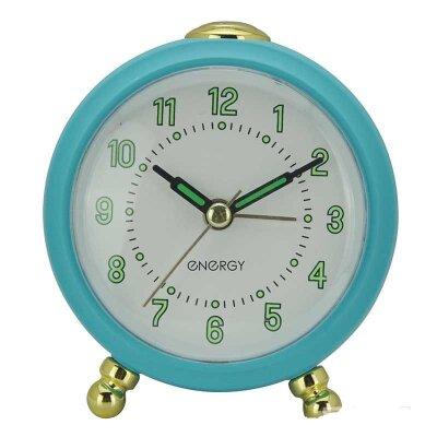 Часы будильник настольные с крупными цифрами ENERGY EA-05-B пластик, голубой